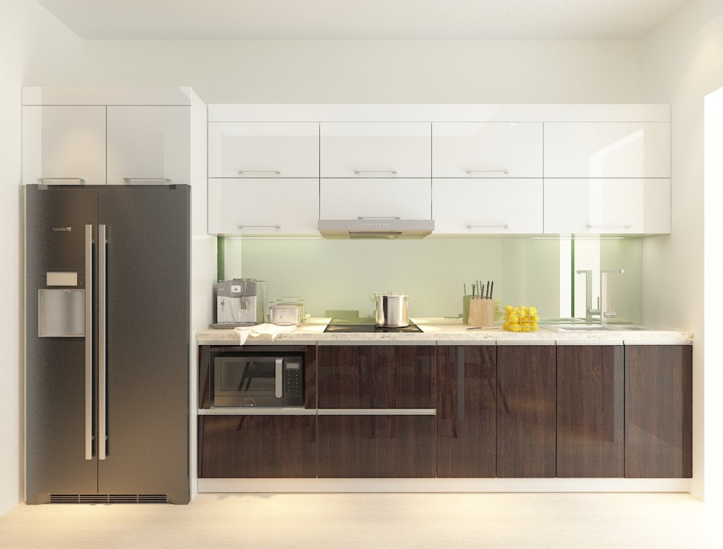 Tủ bếp acrylic an cường