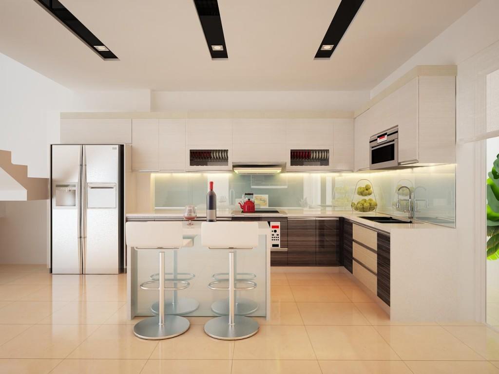 Thi công tủ bếp acrylic tại Hà Nội
