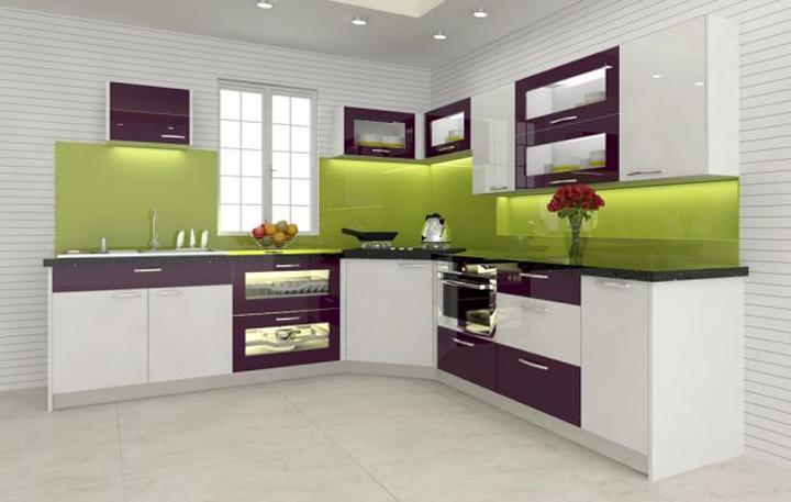Tủ bếp Acrylic bóng gương tại hà nội