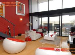 Cảm hứng thiết kế nội thất màu đỏ cho chung cư