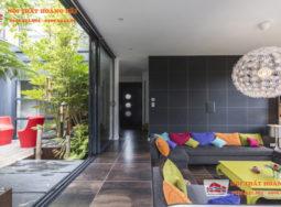Thiết kế nội thất biệt thự hiện đại với màu sắc rực rỡ