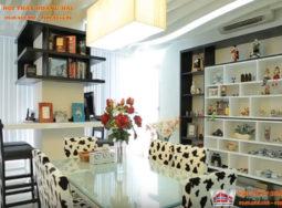 Thiết kế nội thất chung cư với hai màu đen trắng