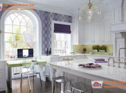 Trang trí phòng ăn biệt thự với màu Lavender