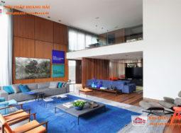 Ý tưởng thiết kế phòng khách biệt thự sang trọng