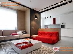 Nội thất 2 căn hộ đầy màu sắc dưới 75 mét vuông