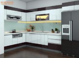 Tủ bếp nhựa Acrylic tại Hà Nội cao cấp