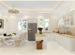 Tủ Bếp tân cổ điển Tại Hà Nội
