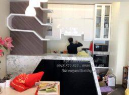 Công trình thi công tủ bếp acrylic tại biệt thự anh Tuân ở Hà Nam