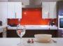 Mẫu tủ bếp acrylic hiện đại