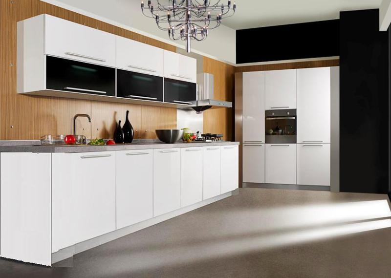 Mẫu tủ bếp HDF Melamine đẹp