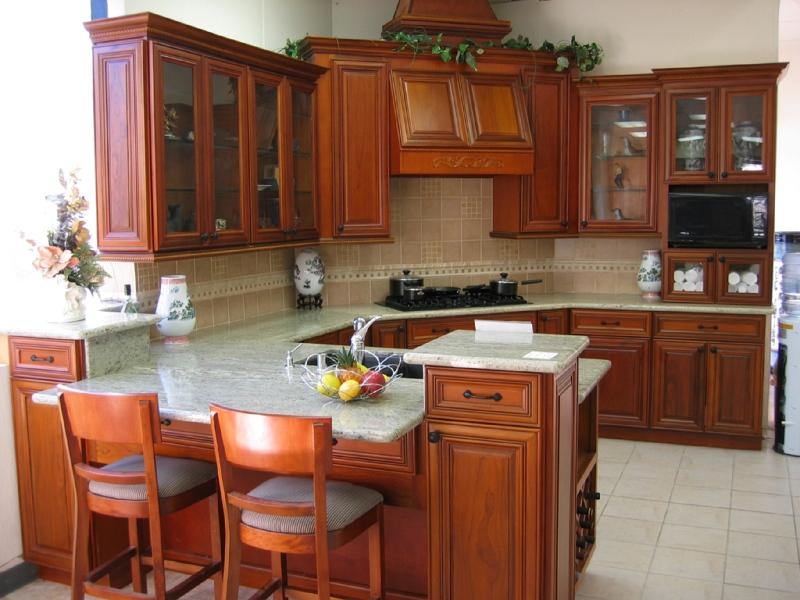 Mãu thiết kế tủ bếp gỗ giáng hương đẹp