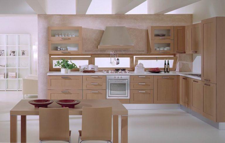 phòng bếp nội thất gỗ óc chó quảng ninh