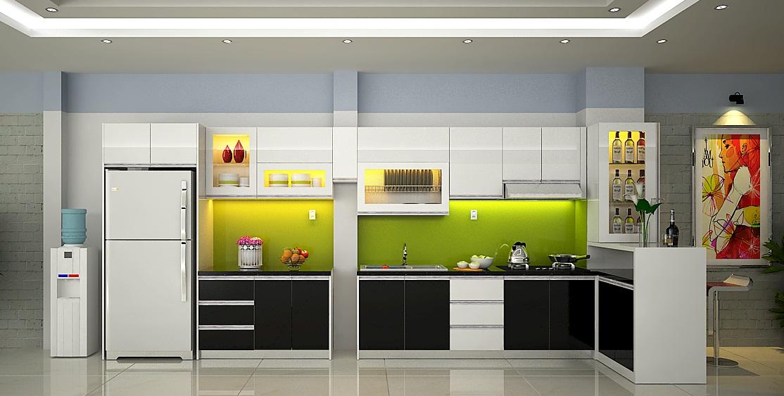 Tủ bếp acrylic đẹp tại Hà Nội