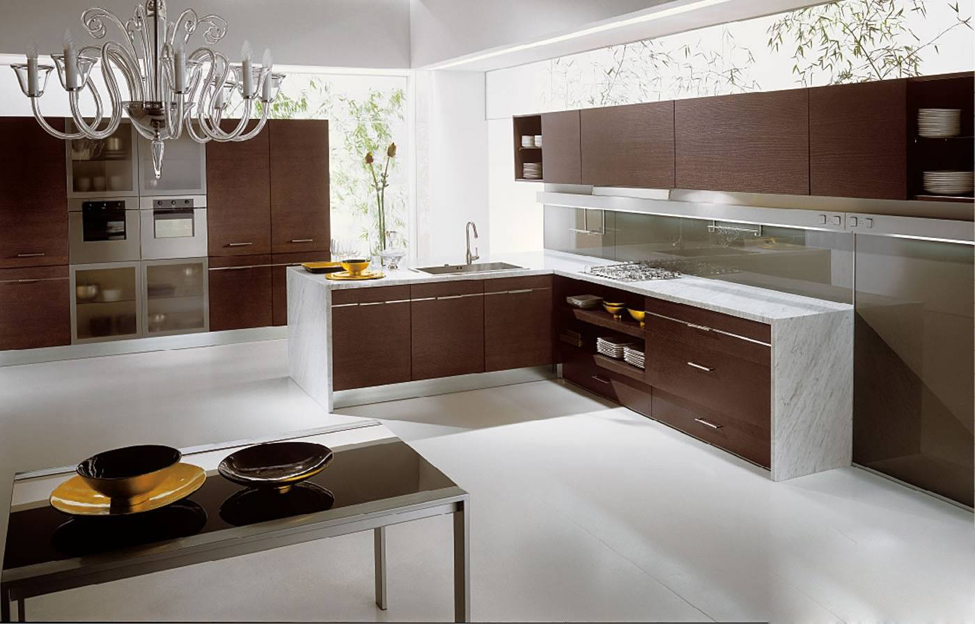 Mẫu thiết kế tủ bếp gỗ công nghiệp Laminate