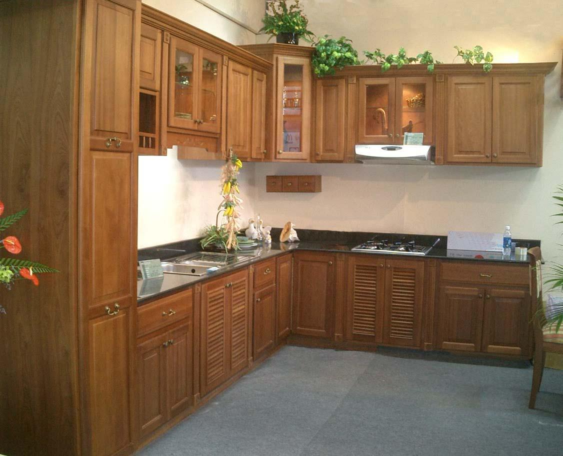 Tủ bếp gỗ dổi đẹp