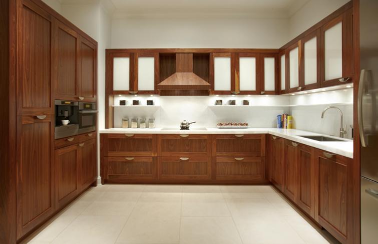 Thiết kế và thi công tủ bếp gỗ dổi