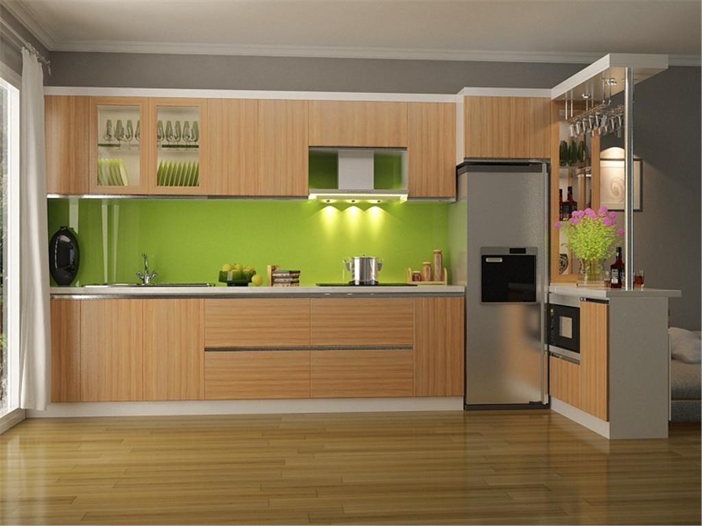 Tủ bếp MFC lõi xanh đẹp