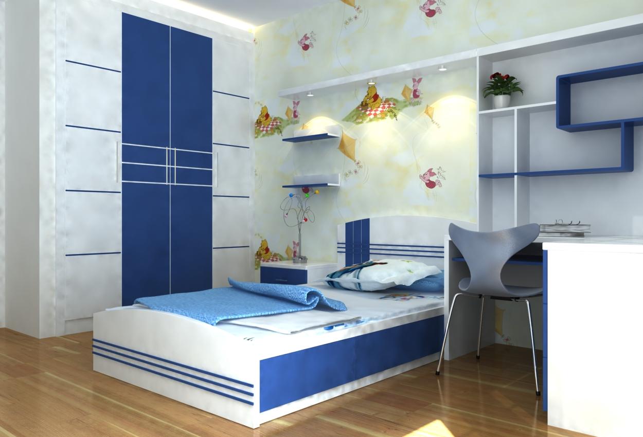Thiết kế phòng trẻ em gia đình Bác Tiến