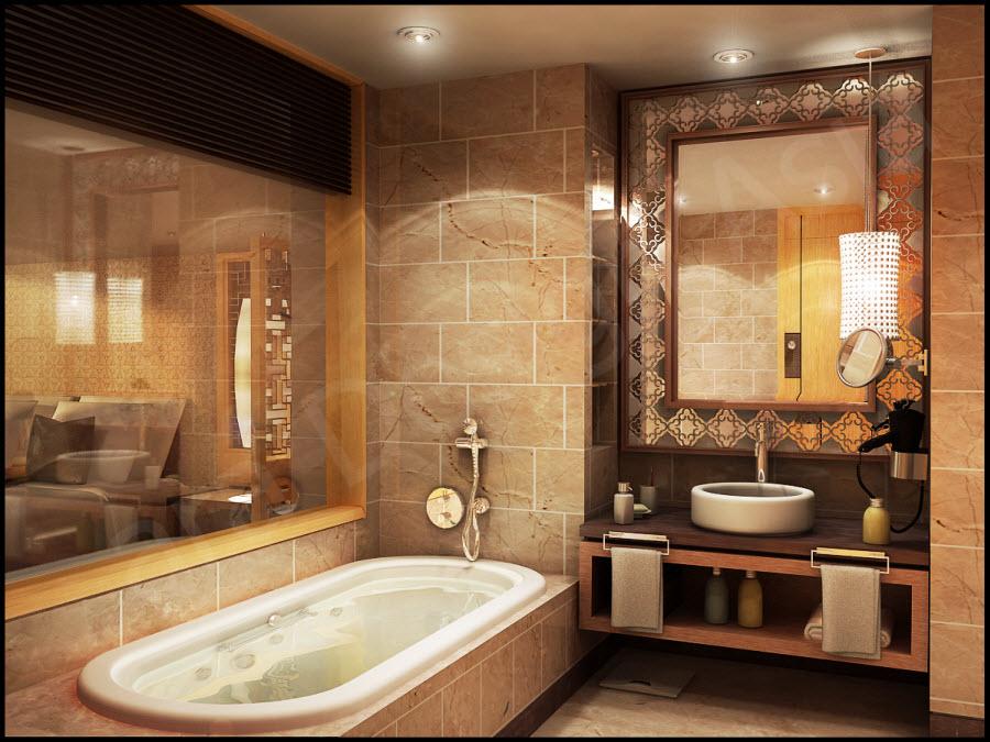 Thiết kế phòng tắm gia đình anh Cương