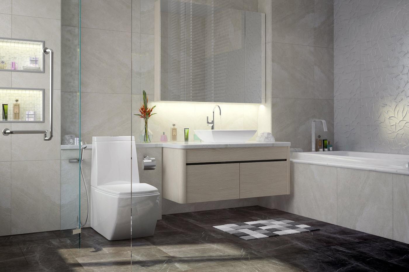 Thiết kế phòng tắm gia đình anh Hùng