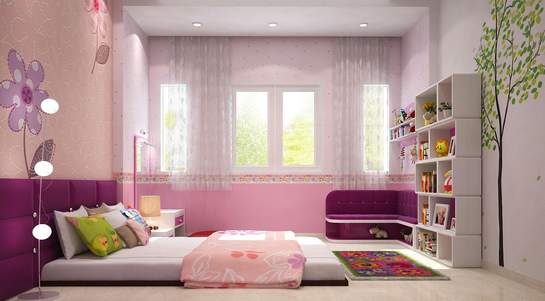 Thiết kế phòng trẻ em gia đình Chị Viết
