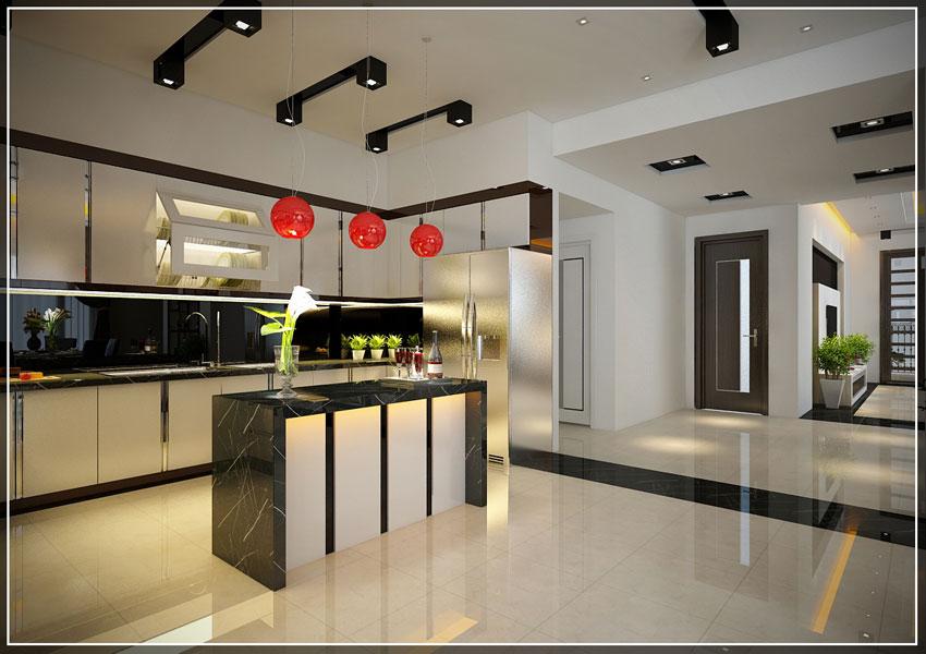 Thiết kế phòng bếp nhà anh Hùng