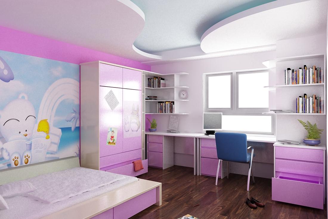 thiết kế phòng trẻ em gia đình