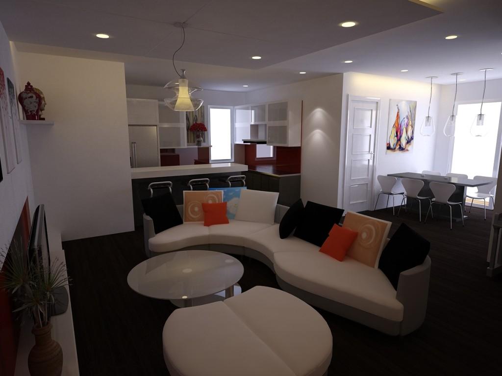 thiết kế nộithất chung cư hiện đại