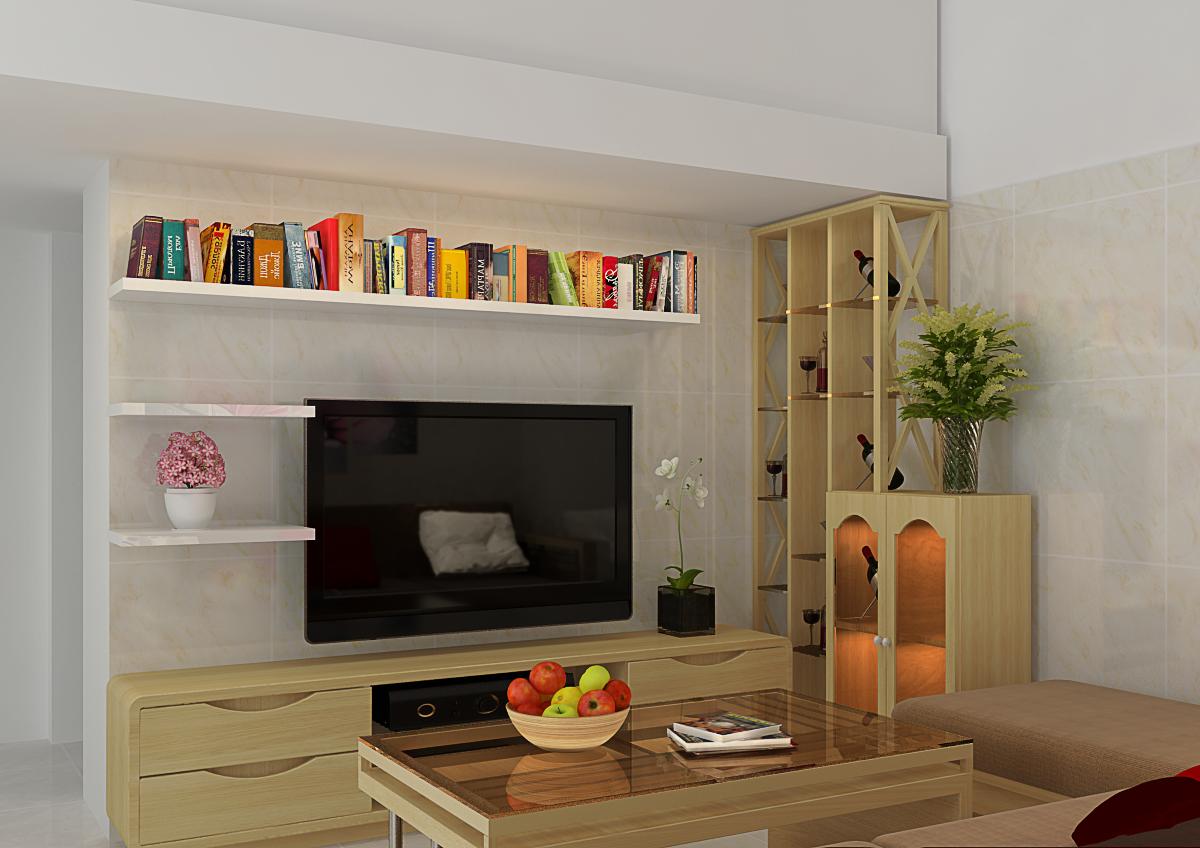 Thiết kế phòng khách gia đình chị Thoa