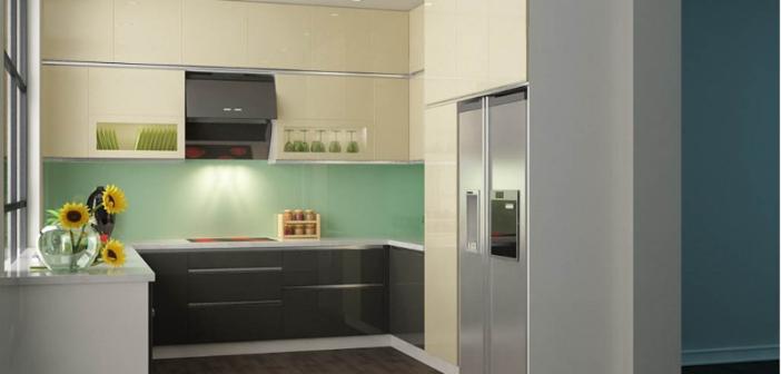 tủ bếp gỗ acrylic tại hà nội