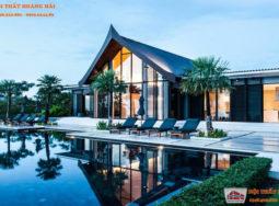 Biệt thự kiểu thái với đồ nội thất thiết kế bằng gỗ đẹp lộng lẫy
