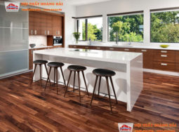 Không gian mở hiện đại cho phòng khách và phòng ăn