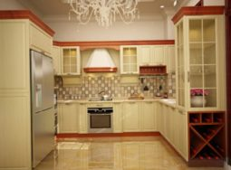 Thiết kế nội thất căn bếp theo phong cách tân cổ điển