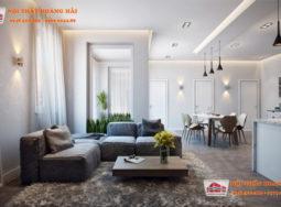 Thiết kế nội thất chung cư đẹp, đơn giản hiện đại nhà anh Long tại Linh Đàm