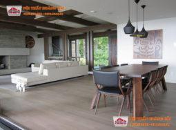 Thiết kế nội thất phòng ăn biệt thự sang trọng