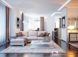 Thiết kế nội thất lấy cảm hứng từ các bảng màu trung tính