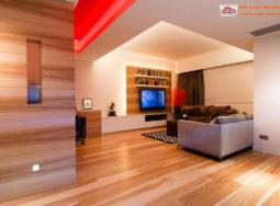 Căn hộ ấm áp với nội thất gỗ sang trọng