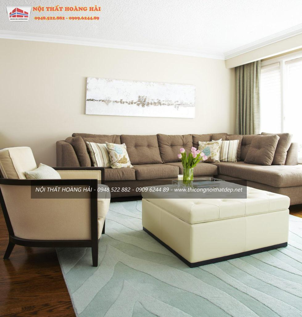Sự sang trọng của nội thất phòng khách sang trọng và thanh lịch