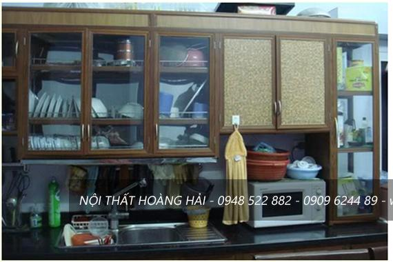 Tủ Bếp Nhôm Vân Gỗ Giá Tiền