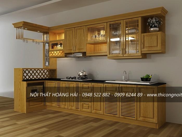 báo giá tủ bếp gỗ xoan đào 2017