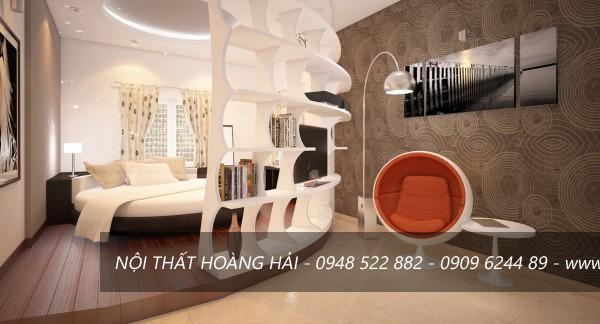 Phòng ngủ thiết kế hình cung đẹp ấn tượng