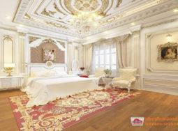 Thiết kế nội thất tân cổ điển căn hộ nhà chị Hòa