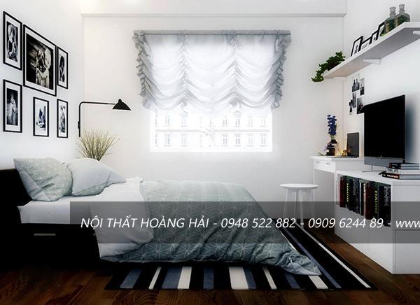 Phòng ngủ lấy tone màu trắng làm chủ đạo
