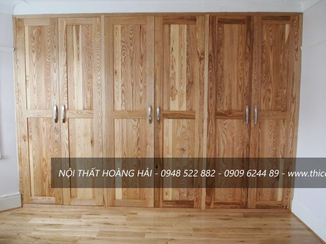 Giá tủ áo gỗ sồi