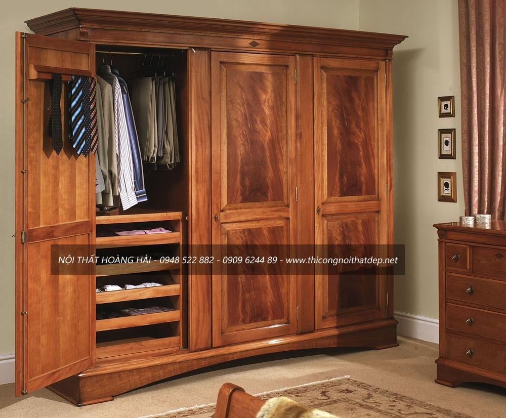 Tủ áo gỗ sồi nga