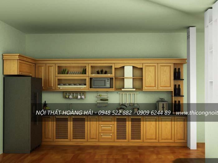 tủ bếp gỗ xoan ta có tốt không