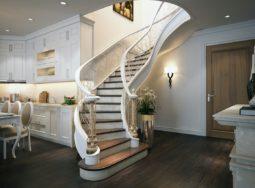 Cầu thang phong cách nội thất tân cổ điển