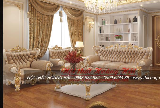 Bộ sofa phong cách nội thất tân cổ điển