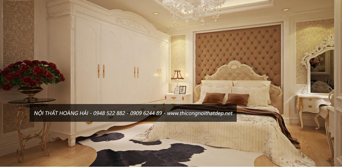 Bộ giường ngủ phong cách nội thất tân cổ điển