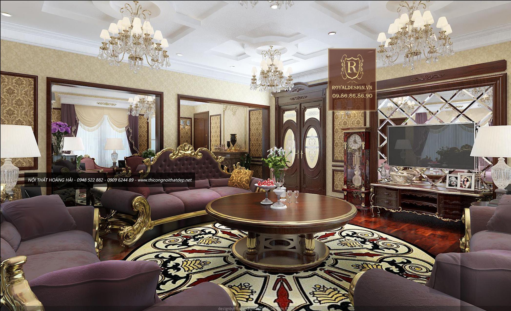 Ghế sofa phong cách nội thất Hoàng Gia